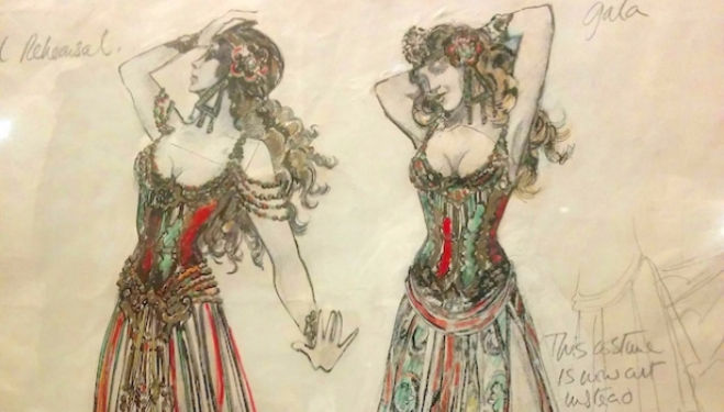 Sketch of costumes from Phantom of the Opera, V&A Curtain Up