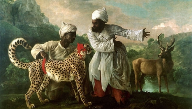 George Stubbs A Cheetah and a Stag with two Indian Attendants 1765 © Manchester Art Gallery