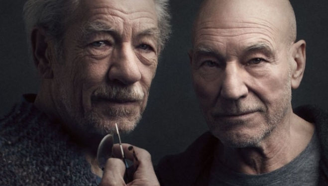 Ian McKellen and Patrick Stewart: No Man's Land play, photo by Luke Fontana