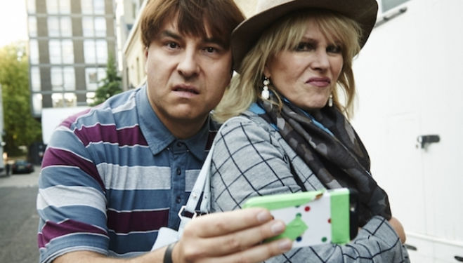 Joanna Lumley and David Walliams in conversation