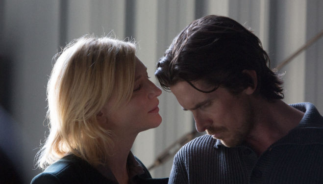 Cate Blanchett (Nancy) and Christian Bale (Rick) in Knight of Cups