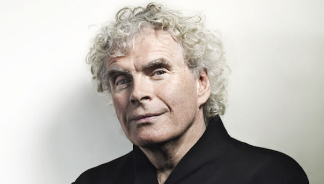 Simon Rattle, photo credit Johann Sebastian Haenel