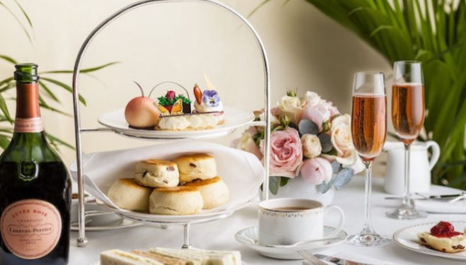 The Dorchester and Laurent-Perrier Afternoon Tea and the RHS Chelsea Flower Show