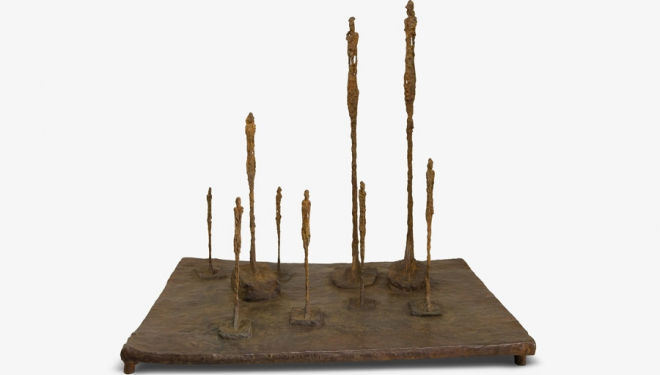Giacometti La Clairière, 1950 Bronze © Alberto Giacometti Estate /Licensed in the UK by ACS and DACS, 2016 review giacometti klein gagosian klein giacometti exhibition