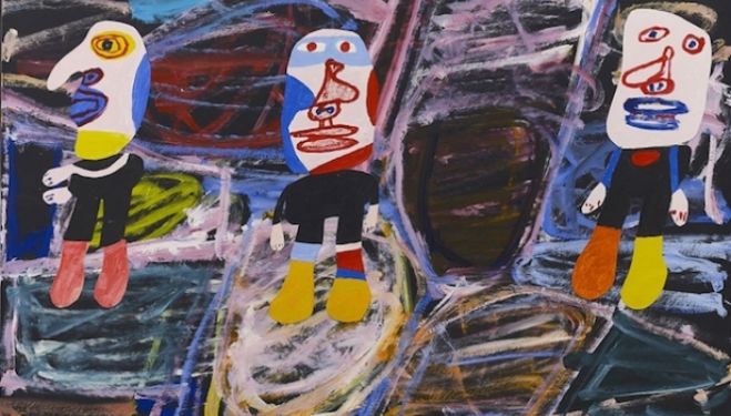 Jean Dubuffet, Inspection du territoire (F 141) 1 er septembre 1982, 1982 Dubuffet London Exhibition