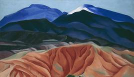 Georgia O'Keeffe Black Mesa Landscape, New Mexico / Out Back of Marie's II. 1930 Oil on canvas mounted on board 24 1/4 x 36 1/4 (61.6 x 92.1)Georgia O'Keeffe Museum. Gift of The Burnett Foundation © Georgia O'Keeffe Museum