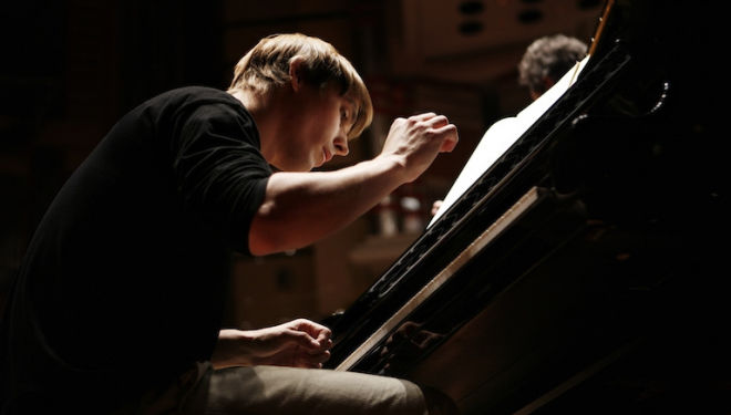Cédric Tiberghien plays two Mozart piano concertos on Aurora's Grand Tour. Photograph: Benjamin Ealovega