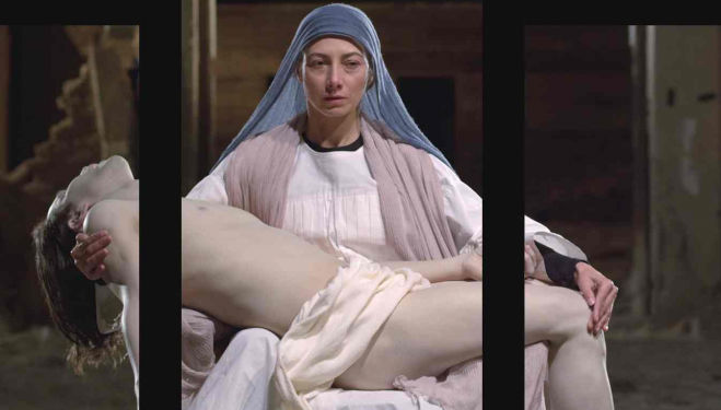 A still from Mary, 2016, by Bill Viola; Executive Producer, Kira Perov, which will be inaugurated in the cathedral on 8 September. Photograph: Blain|Southern/PA Bill Viola Mary
