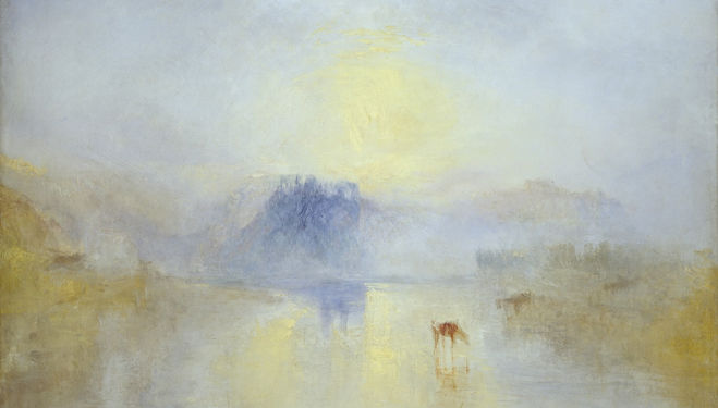 Joseph Mallord William Turner Norham Castle, Sunrise c.1845 © Tate