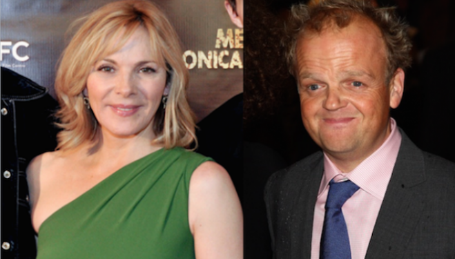 Kim Cattrall and Toby Jones