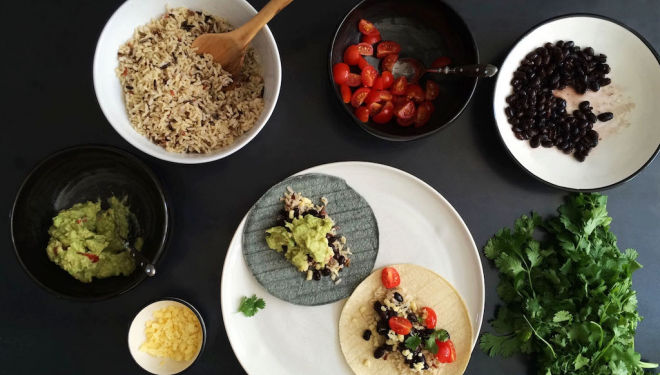 Healthy burritos for a Mexican fiesta