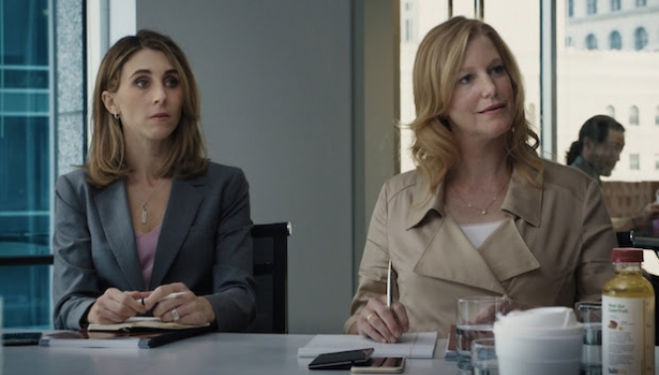 Sarah Megan Thomas and Anna Gunn in Equity