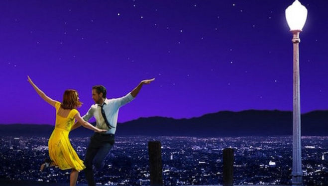 Emma Stone and Ryan Gosling fall for each other in La La Land