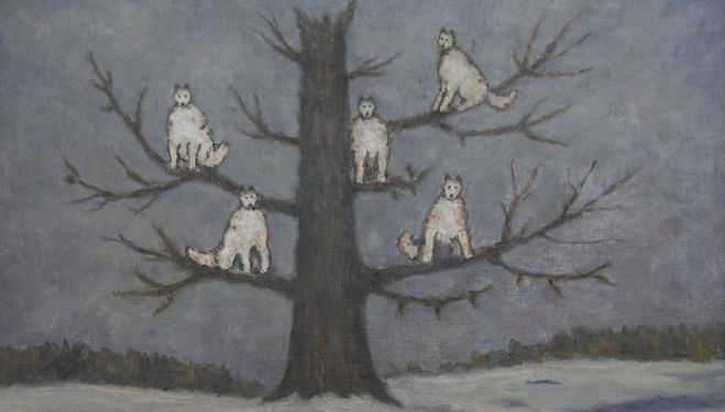 Sergei Pankejeffs Painting of Wolves Sitting in a Tree, courtesy of the Freud Museum London.jpg
