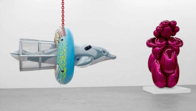 Jeff Koons at the Almine Rech Gallery, Savile Row