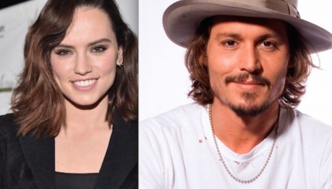 Daisy Ridley and Johnny Depp new film