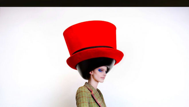 Walter van Beirendonck, Fall/Winter 2010/2011. Hat: Stephen Jones © Ronald Stoops