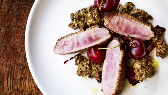 Duck with Cherries at Veneta: Venetian restaurant in London