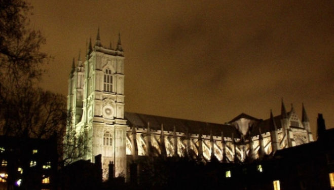 Westminster Abbey late night