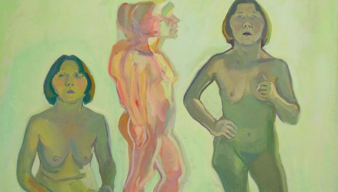 Dreifaches Selbtsporträt / New Self (Triple Self-Portrait / New Self), 1972 © Maria Lassnig Foundation