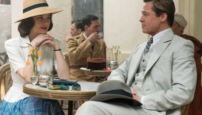 Marion Cotillard and Brad Pitt, Allied film 2016, Robert Zemeckis