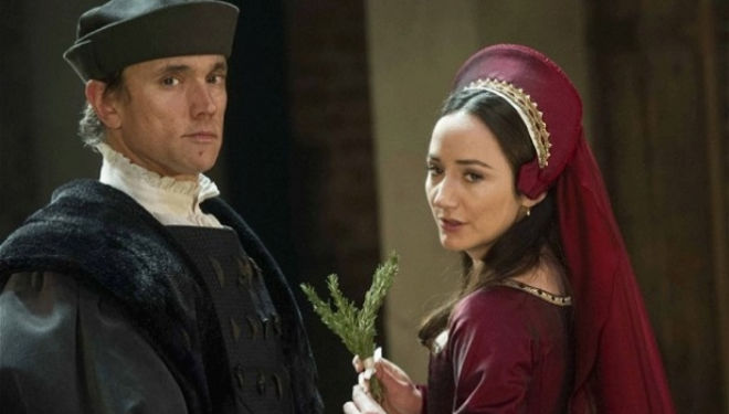Ben Miles as Thomas Cromwell and Lydia Leonard as Anne Boleyn in Wolf Hall Photo: Alastair Muir