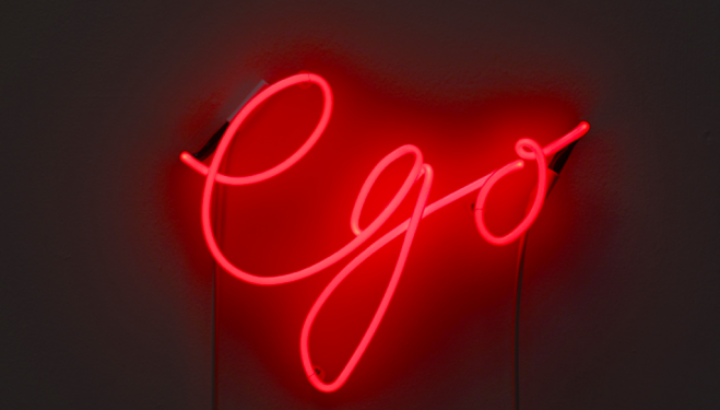 Gavin Turk Edition of 3 + 1 AP Pink neon mounted on white wall