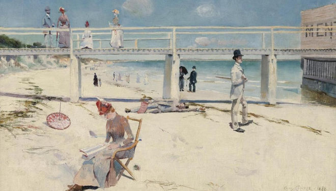 Bold impressions: A Holiday at Mentone, 1888, by Charles Conder Art Gallery of South Australia, Adelaide