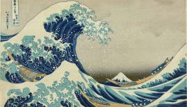 The Great Wave off Kanagawa, Hokusai Part of the series Thirty-six Views of Mount Fuji, no. 21.