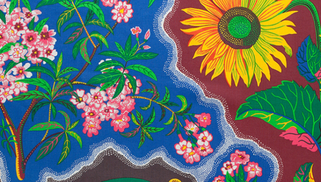 Moderation? What moderation? Josef Frank's exuberant textile design, image courtesy Fashion and Textile Museum
