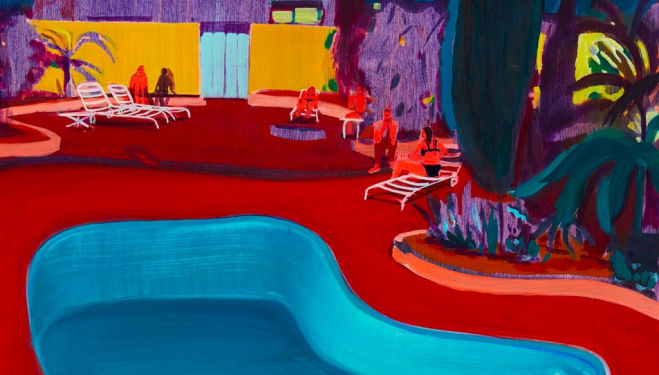 Detail: Valley Pool Party by Jules de Balincourt © the artist & Victoria Miro