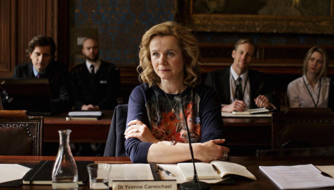 Emily Watson in BBC One's new drama: Apple Tree Yard