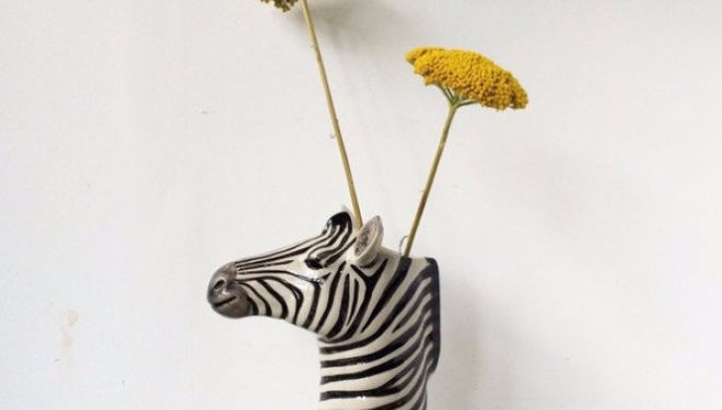 Zebra vase by Grace & Thorn
