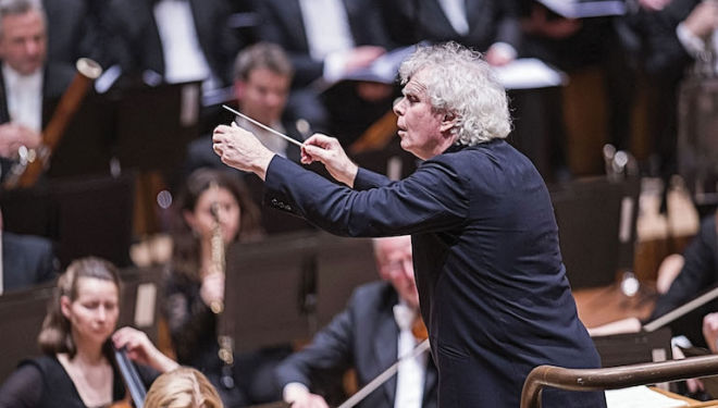 Sir Simon Rattle is bringing music seldom heard to the Barbican. Photograph: Tristram Kenton