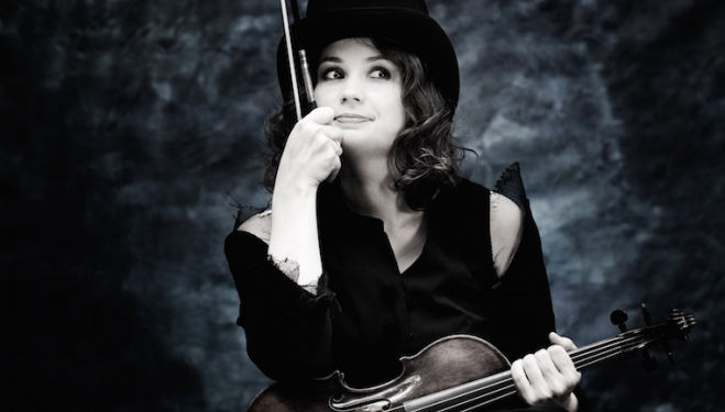 Patricia Kopatchinskaja is the soloist in Berg's haunting Violin Concerto. Photograph: Julia Wesely