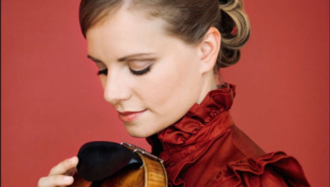 Julia Fischer is the violinist in Respighi's Autumn Poem. Photograph: Felix Broede