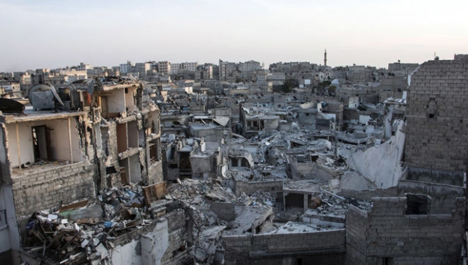 The ruins of Aleppo photo Karam al Masri (AFP)