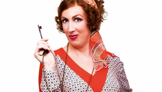 Annie, London 2017: Miranda Hart as Miss Hannigan. Photo © Matt Crockett