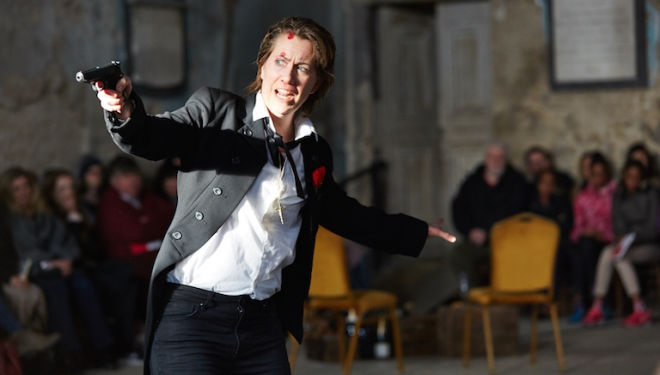 Flora McIntosh as a desperate Romeo in I Capuleti e I Montecchi. Photograph: Richard Lakos