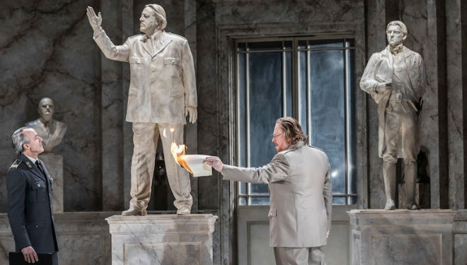Timothy Robinson and Iain Paterson in The Winter's Tale at English National Opera. Photograph: Johan Persson