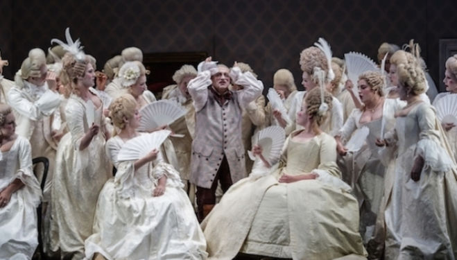 Fan club: a much-loved Don Pasquale returns to Glyndebourne. Photograph: Clive Barda