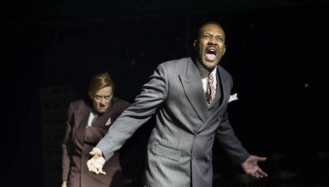Lenny Henry (Arturo Ui) and Lucy Ellinson (Giri), The Resistible Rise of Arturo Ui. Photo: Helen Maybanks