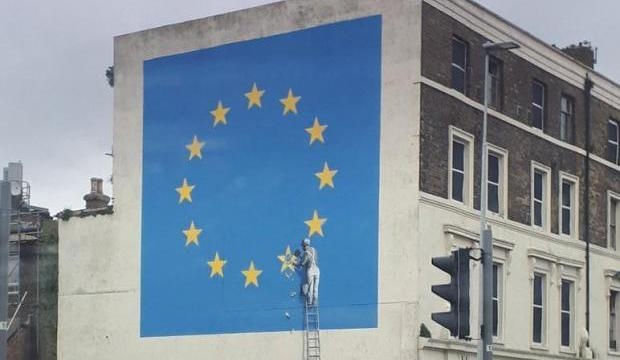 Banksy's mural on Brexit (Image via The Independent)