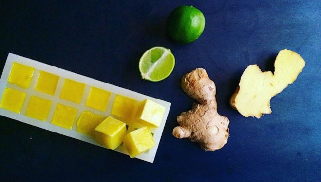 Time for a health boost: Ginger Ice Cubes by Stephanie Achar