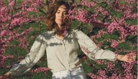 Alexa Chung models her new clothing line, dropping 30 May
