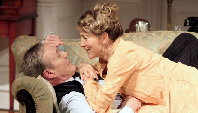 Eve Best as Olivia Brown and Anthony Head as Sir John Fletcher in 'Love in Idleness'. Photo: Catherine Ashmore