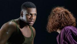 John Boyega as Woyzeck Sarah Greene as Marie Woyzeck, The Old Vic Photo Manual Harlan