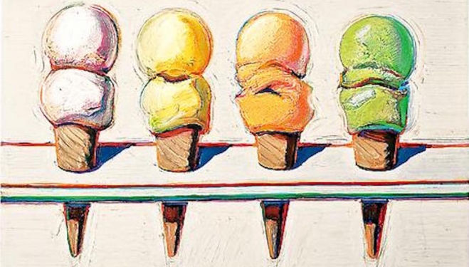 Wayne Thiebaud, White Cube Mason's Yard