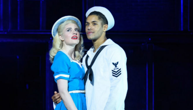 Lizzy Connolly and Jacob Maynard as Hildy and Chip. On The Town musical. Photo by Johan Persson