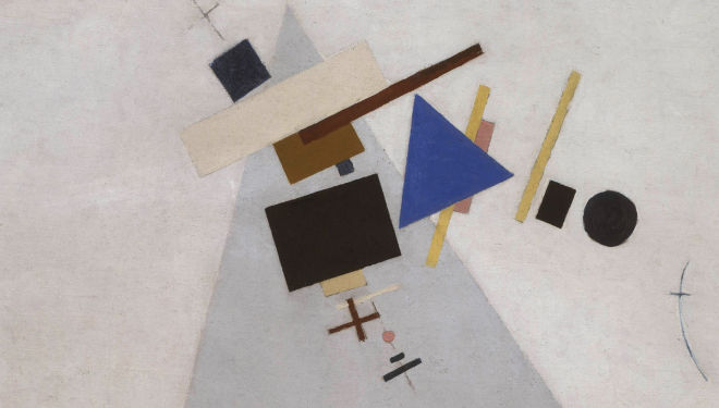 Kazimir Malevich, Dynamic Suprematism (Detail) 1915 or 1916, Image courtesy of Tate